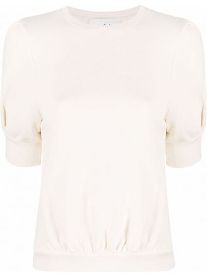 Белая трикотажная свитер Ba&sh