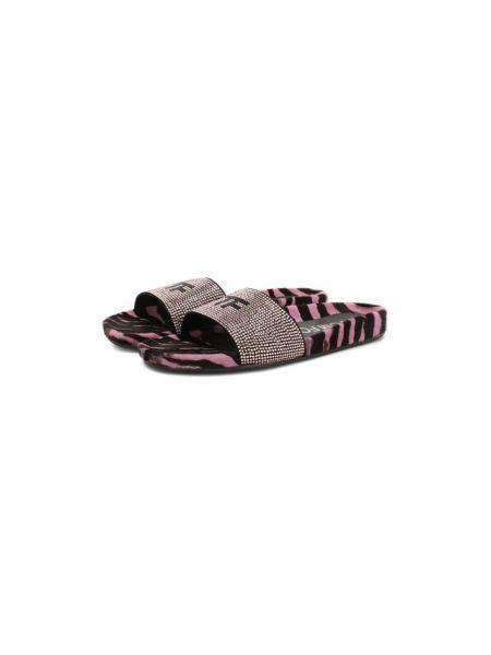 Кожаные розовые шлепанцы с подкладкой Tom Ford