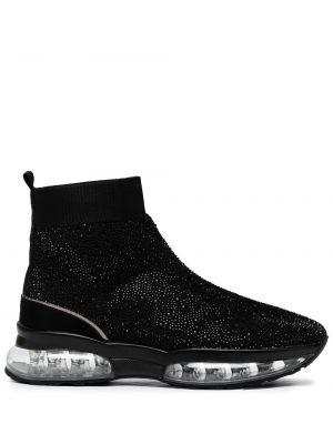 Czarne sneakersy na obcasie Carvela