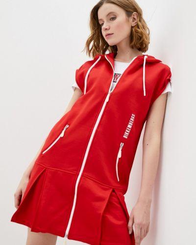 Красное платье Bikkembergs