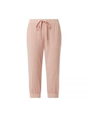 Różowe spodnie bawełniane Kaffe