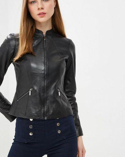 Кожаная куртка - черная Karen Millen