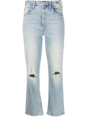 Джинсовые джинсы с карманами классические на шпильке Mother