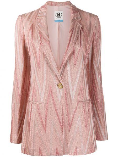 Розовый классический пиджак на пуговицах из вискозы Missoni