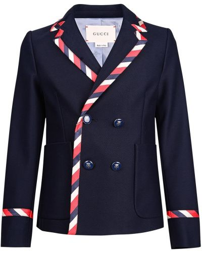Пиджак синий на пуговицах Gucci Kids