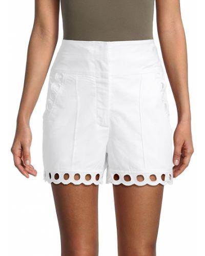 Хлопковые шорты для плаванья с карманами с вышивкой Rebecca Taylor