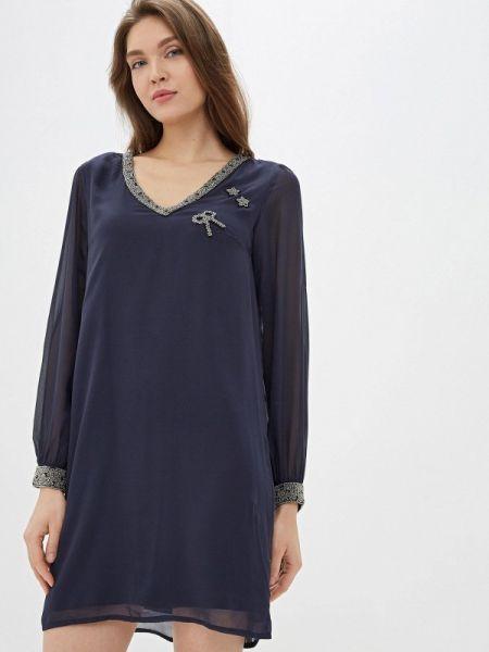 Платье осеннее прямое Naf Naf