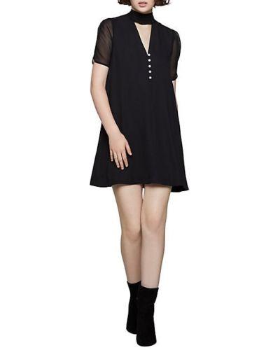 С рукавами черное платье А-силуэта с вырезом Bcbgeneration