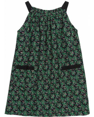 Платье хлопковое черное Bonpoint