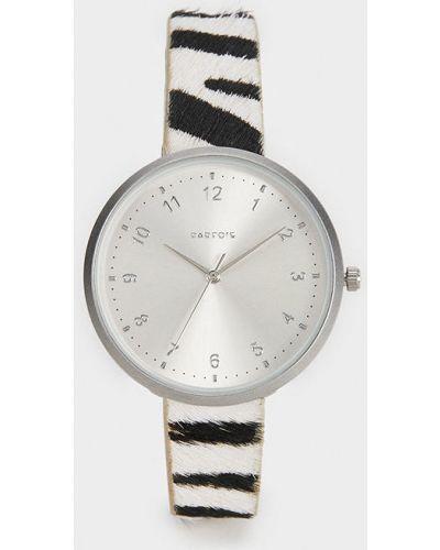 Часы с круглым циферблатом черные Parfois