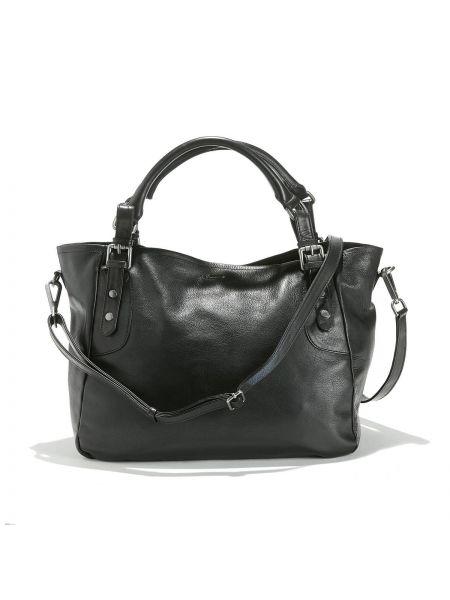 Кожаная сумка - черная Ikks