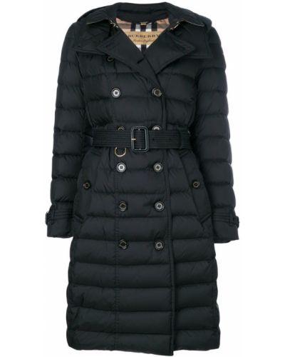 Пальто с капюшоном длинное с карманами Burberry