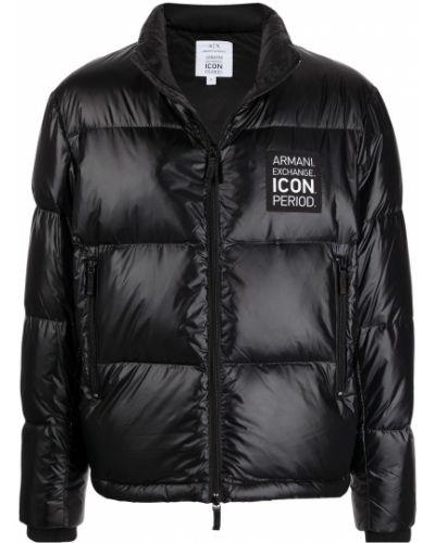 Длинная куртка - черная Armani Exchange