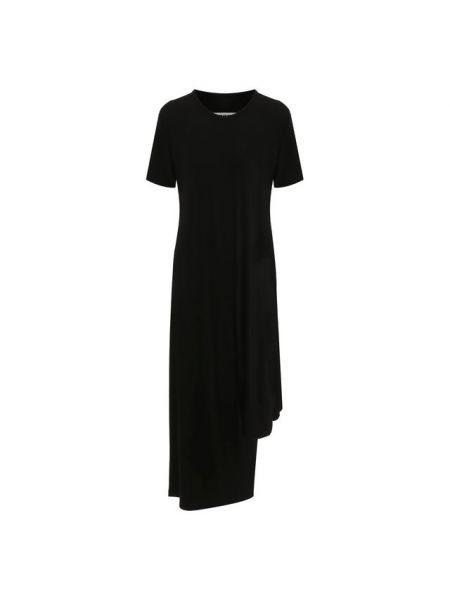 Черное платье из вискозы Mm6
