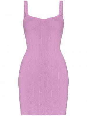 Fioletowa sukienka prążkowana Hunza G