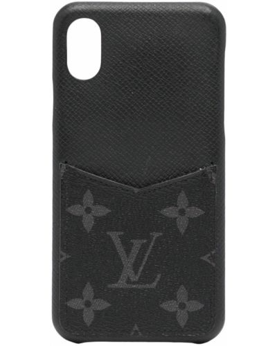 Czarne etui na okulary Louis Vuitton