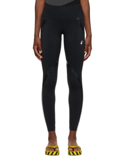 Nylon czarny legginsy rozciągać przycięte Off-white