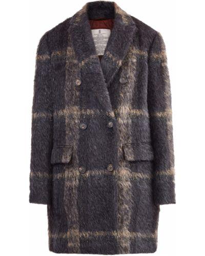 Пальто из альпаки милитари Brunello Cucinelli