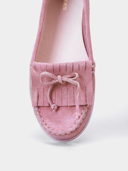 Розовые замшевые мокасины Filipe Shoes