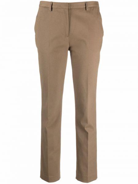 Брюки с карманами - коричневые Lardini