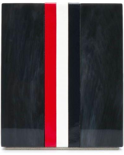 Czarny skórzany pisak do brwi z paskami plac Thom Browne