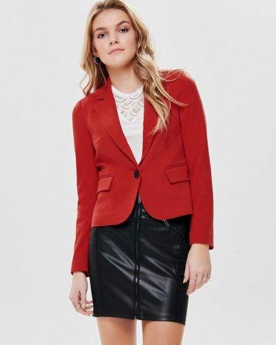 Красный пиджак весенний Only
