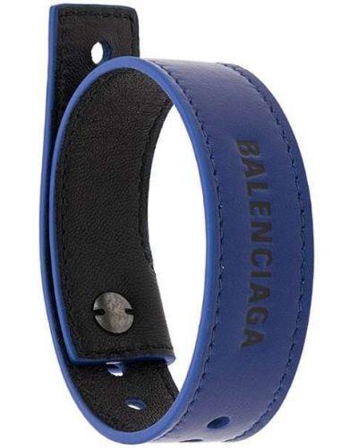 Браслет кожаный синий Balenciaga