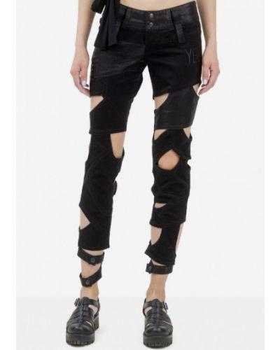 Черные джинсы-скинни узкого кроя Pavel Yerokin