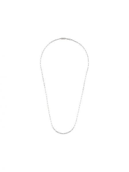 Ażurowy naszyjnik srebrny Northskull