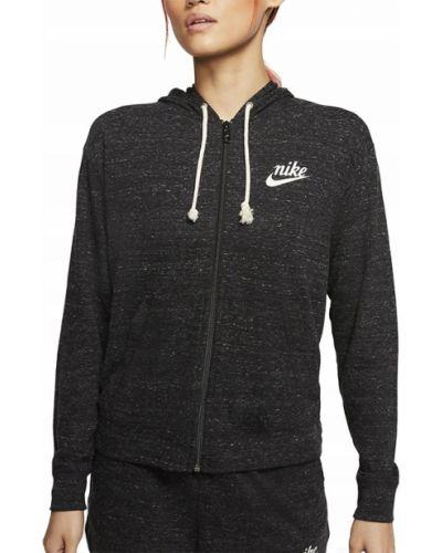Z rękawami czarny bluzka z kapturem Nike