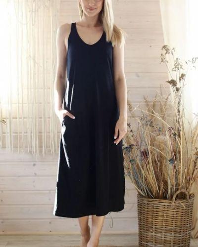 Платье макси длинное - черное Key