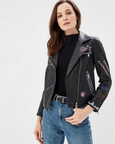 Кожаная куртка черная осенняя Imperial
