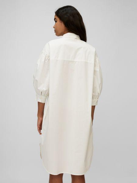 Белое джинсовое платье с воротником на пуговицах Marc O'polo Denim