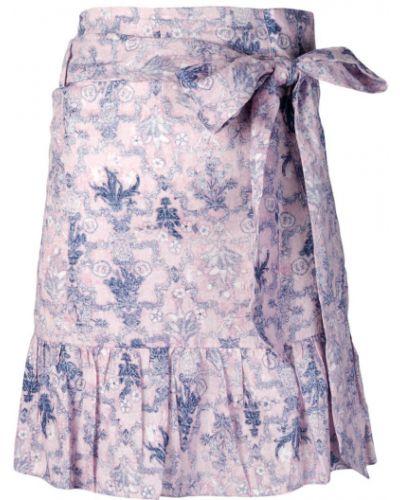 Юбка мини с цветочным принтом с баской Isabel Marant étoile