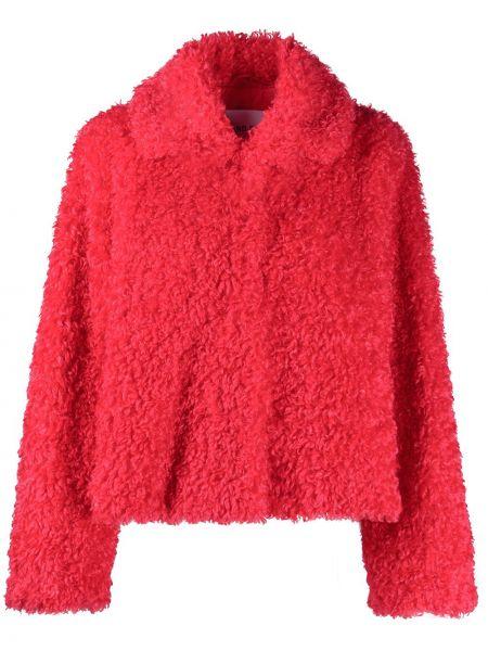 С рукавами красная длинная куртка с воротником Stand Studio