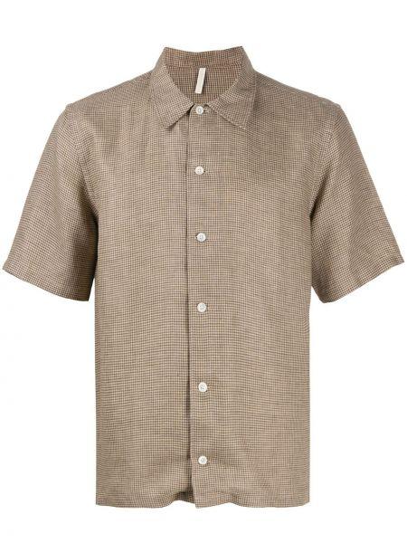 Koszula krótkie z krótkim rękawem klasyczna w kratę Sunflower