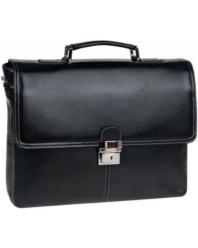 Портфель с отделением для ноутбука кожаный Franchesco Mariscotti