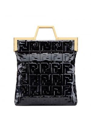 Сумка шоппер - черная Fendi