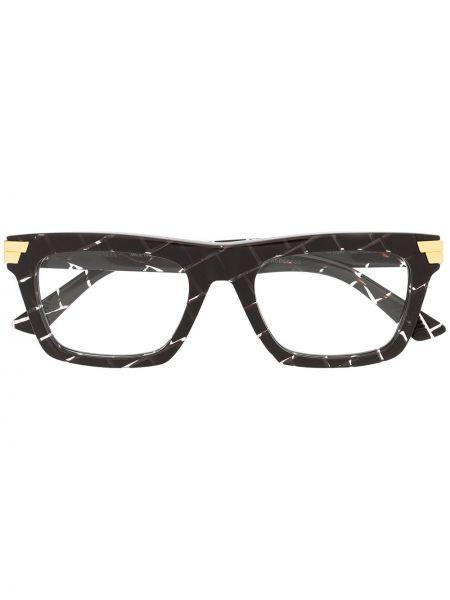 Красные очки для зрения квадратные для полных с нашивками Bottega Veneta Eyewear