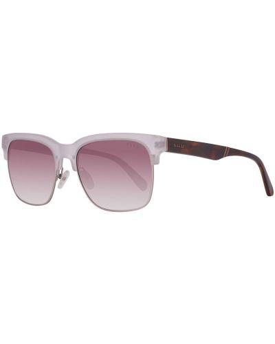 Brązowe okulary srebrne Guess