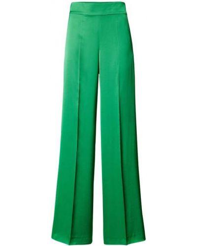 Zielone spodnie palazzo z wiskozy rozkloszowane Hugo