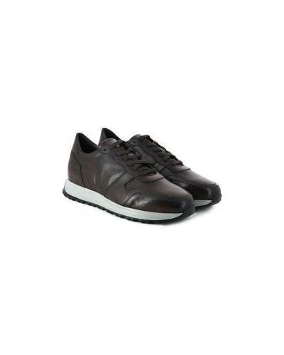 Коричневые кожаные кроссовки Pellettieri Di  Parma