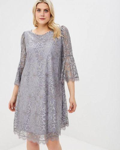Вечернее платье весеннее серый Kr