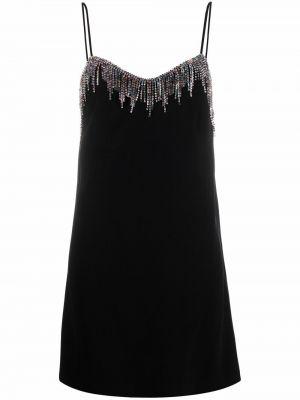 Черное платье с бахромой Pinko