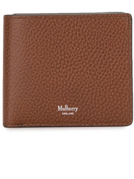 Brązowy portfel skórzany Mulberry