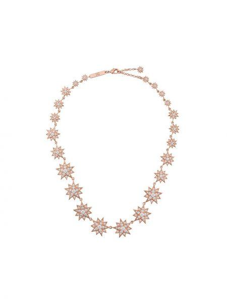 Różowy złoty choker pozłacany Atelier Swarovski