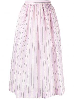 Розовая хлопковая расклешенная юбка Tela