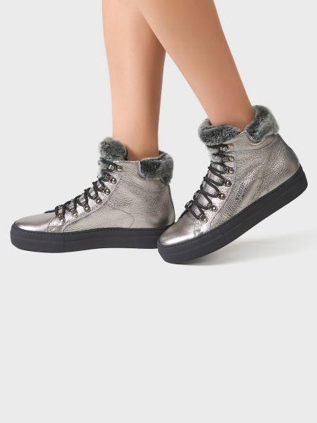 Кожаные ботинки - серебряные Iceberg