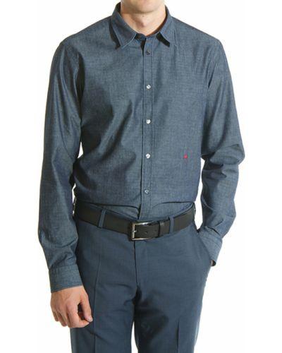 Синяя рубашка хлопковая Love Moschino