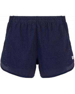 Прямые компрессионные синие теннисные спортивные шорты Wilson